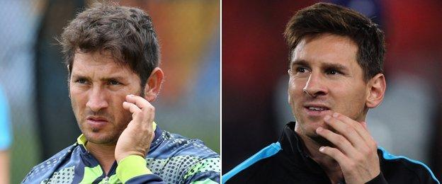 Yasir Shah and Lionel Messi