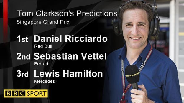 Tom Clarkson's Predictions for Singapore Grand Prix