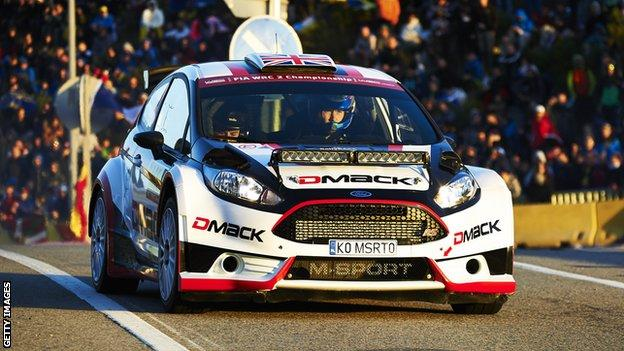 Jon Armstrong and Noel O'Sullivan in action in Rally Cataluña