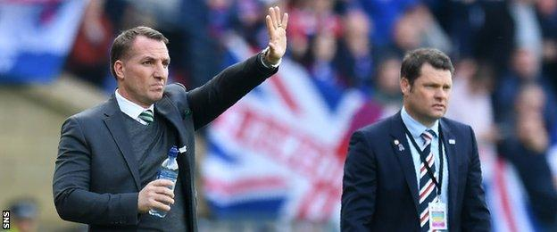 Celtic's Brendan Rodgers and Rangers' Graeme Murty