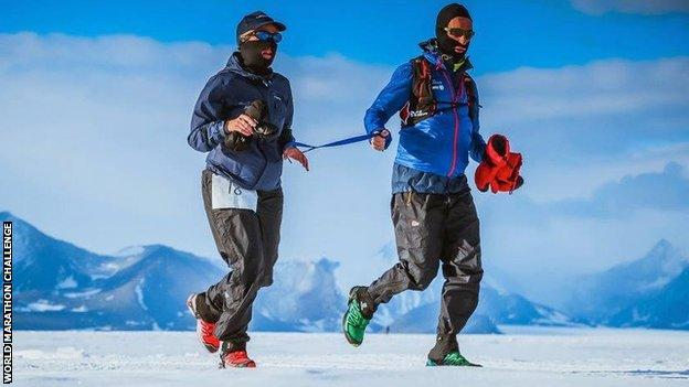 Sinead Kane began her feat of seven marathons in seven continents in the space of a week in Antarctica in January 2017