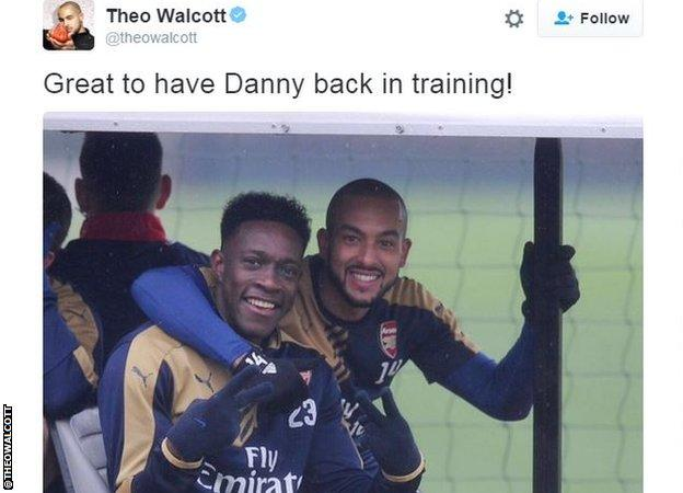 Theo Walcott with Danny Welbeck