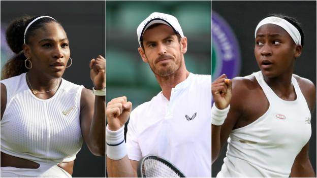 Andy Murray & Serena Williams start Wimbledon doubles & Coco Gauff on Centre Court thumbnail
