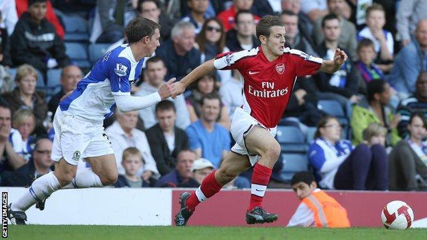 Jack Wilshere on his Arsenal debut against Blackburn