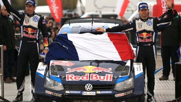 World Rally champion Sebastien Ogier