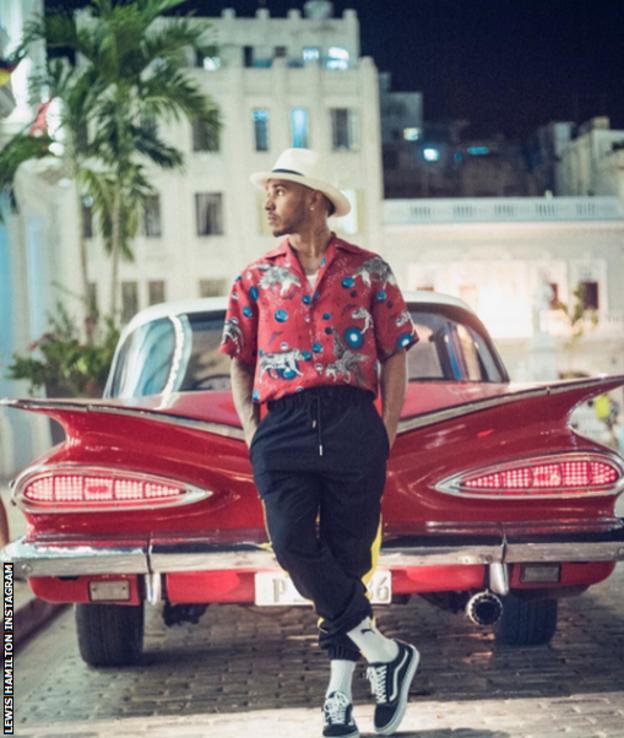 Lewis Hamilton in Cuba