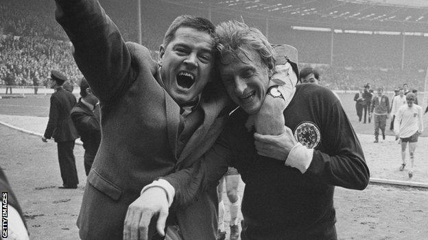Denis Law after Scotland's 3-2 victory over England in 1967