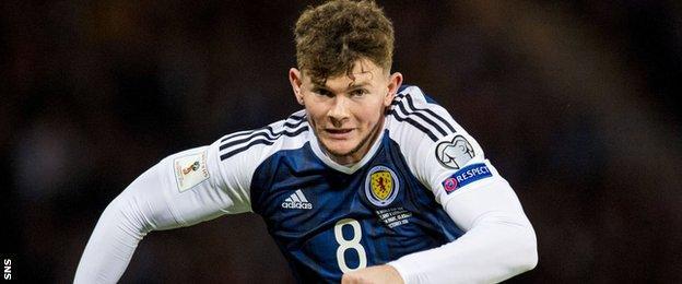 Scotland and Leipzig winger Oliver Burke