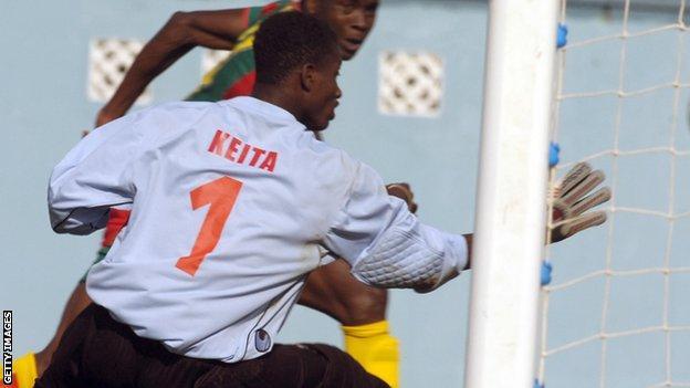 Guinea goalkeeper Abdoulaziz Keita