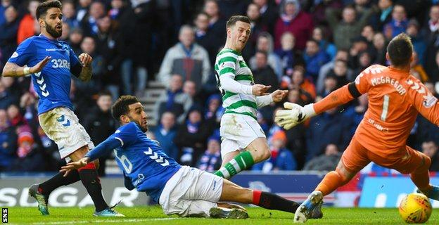 Celtic's Callum McGregor had a late effort ruled offside