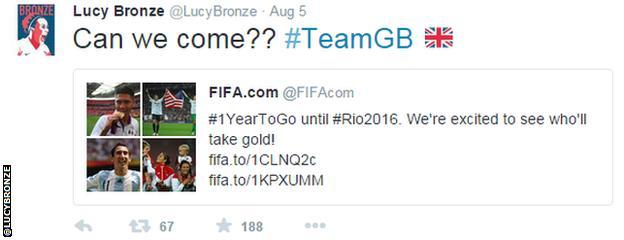 Lucy Bronze tweet