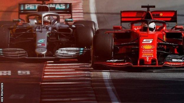 Lewis Hamilton and Sebastian Vettel during the Canadian Grand Prix