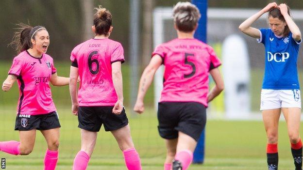 Priscilla Chinchilla (left) scored twice for Glasgow City