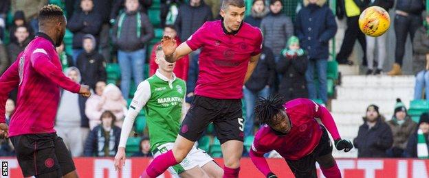 Celtic's Dedryck Boyata (right) comes close to a late winner