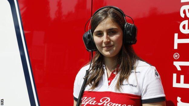 Sauber F1 test driver Tatiana Calderon