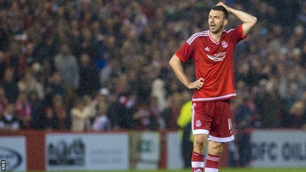 Aberdeen player Paul Quinn