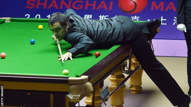 Ronnie O'Sullivan in Shanghai Masters action