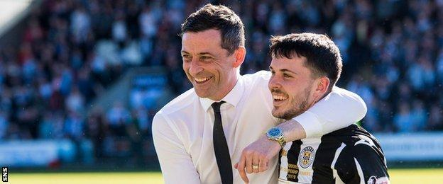Morgan with Jack Ross