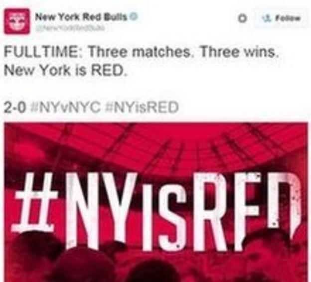 New York Red Bulls tweet