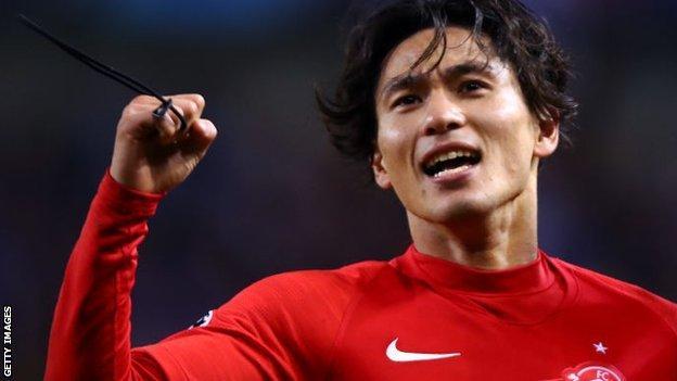 Liverpool's new signing Takumi Minamino