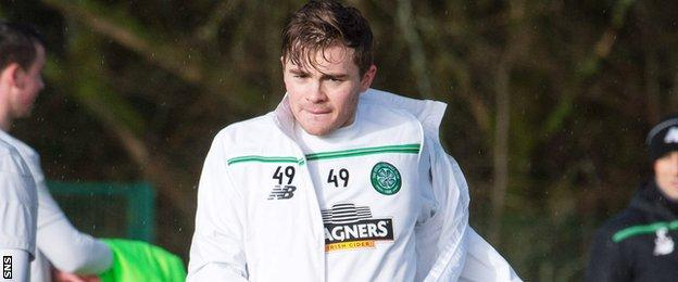 James Forrest at Celtic training