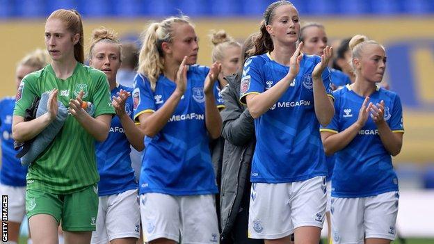 Everton applaud away fans