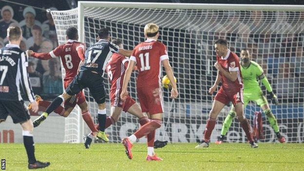 Joe Lewis error gives St Mirren 2-1 win cup win over Aberdeen - BBC Sport