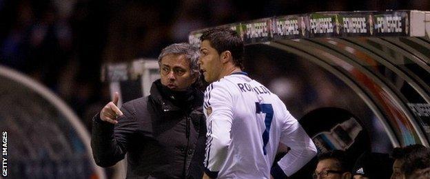 Jose Mourinho and Cristiano Ronaldo