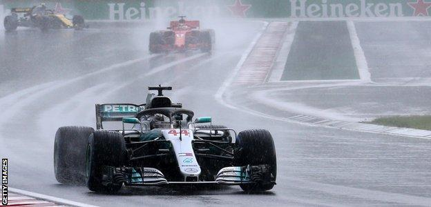 Lewis Hamilton during qualifying for the Hungarian GP