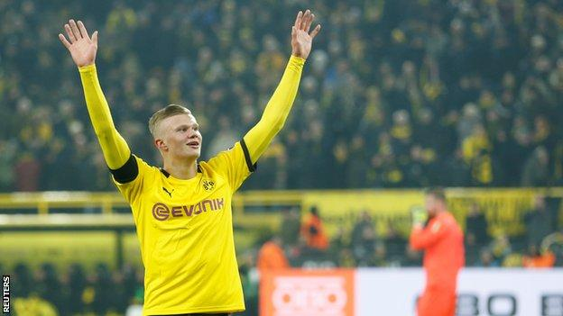 Erling Braut Haaland Scores Two More In Dortmund S Win Over Cologne Bbc Sport