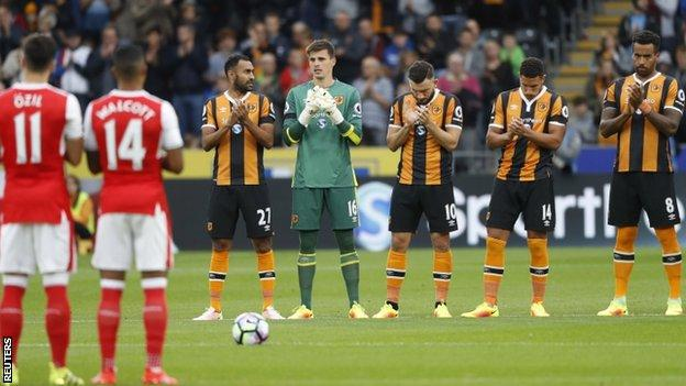 Hull City minute's silence Daniel Wilkinson