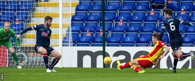 Partick Thistle's Blair Spittal opens the scoring