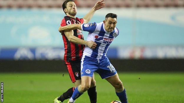 Wigan forward Gary Roberts