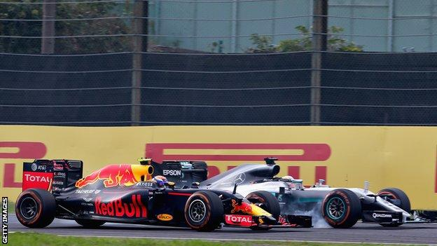 Red Bull's Max Verstappen (left) and Mercedes rival Lewis Hamilton (right)