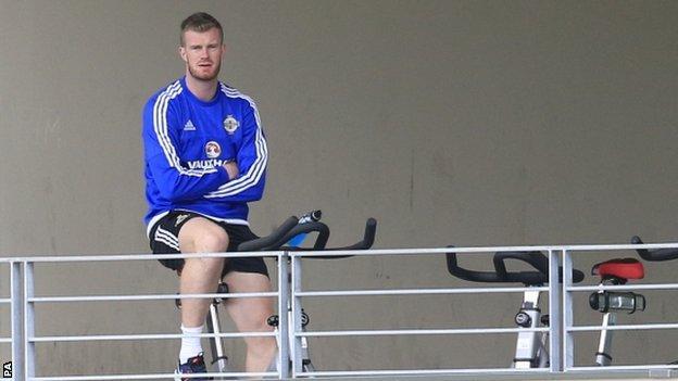 Northern Ireland midfielder Chris Brunt