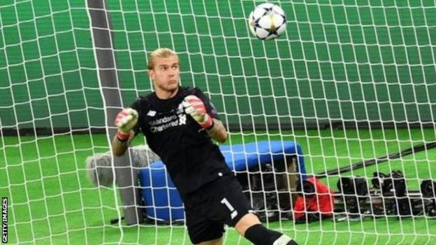 Liverpool goalkeeper Loris Karius in action during the 2018 Champions League final