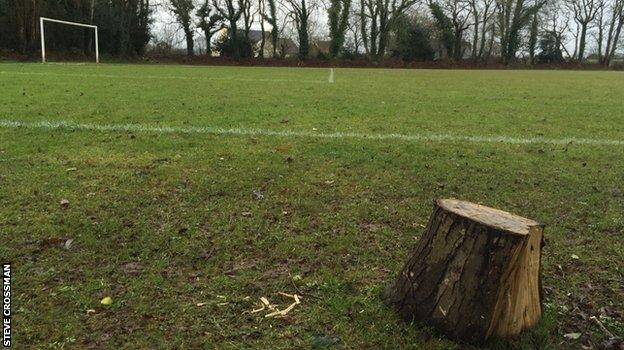 The pitch where Mahrez had his trial with Quimper