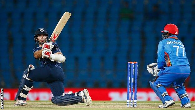 Kyle Coetzer in action against Afghanistan during the ICC World Twenty20