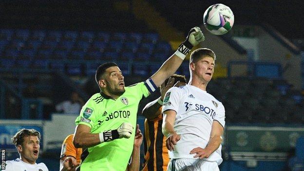 Kiko Casilla plays for Leeds United against Hull City