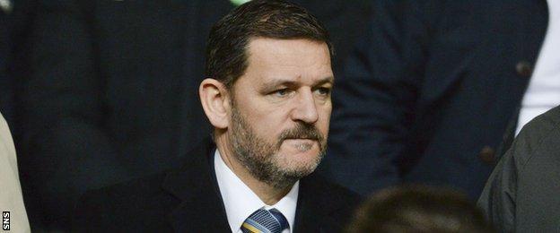 St Johnstone chairman Steve Brown