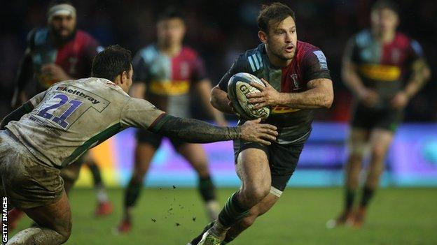Danny Care runs with the ball for Harlequins