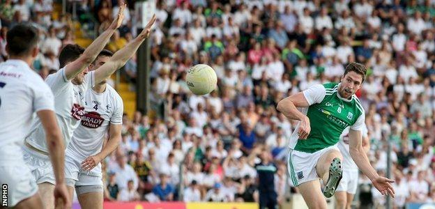 Donnelly in action for Fermanagh against Kildare