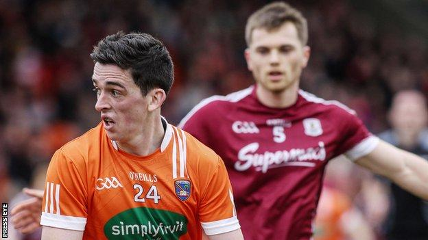 Rory Grugan in action for Armagh against Galway