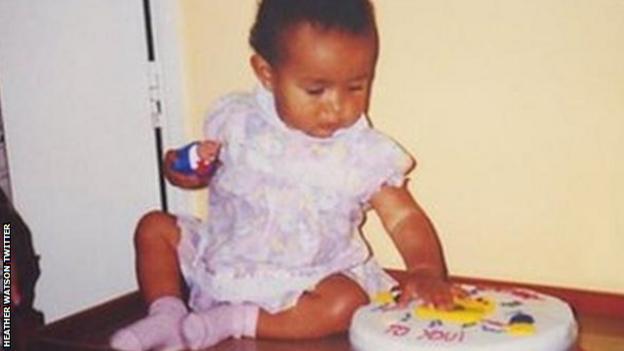 Heather Watson aged one