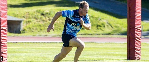Scotland's Greig Tonks prepares for the Rugby World Cup
