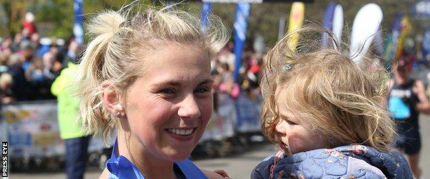Laura Graham finished runner-up in the Belfast event after competing in the London Marathon eight days ago