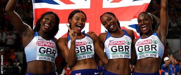 GB win European 4x100m gold at Berlin 2018
