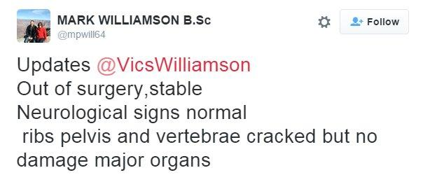 Mark Williamson tweet