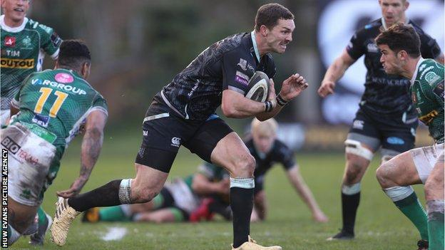 George North made his first Ospreys appearance of the season in the win over Benetton
