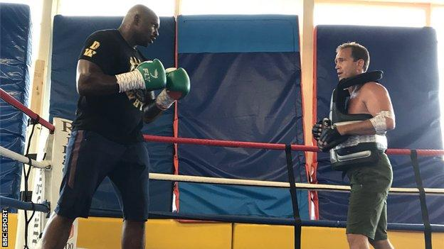 Dillian Whyte has been training at Loughborough University with coach Mark Tibbs